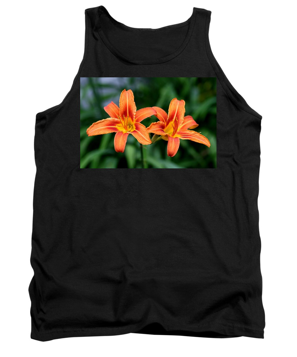 Flowers Tank Top featuring the photograph 2 Flowers In Side By Side by Paul SEQUENCE Ferguson       sequence dot net