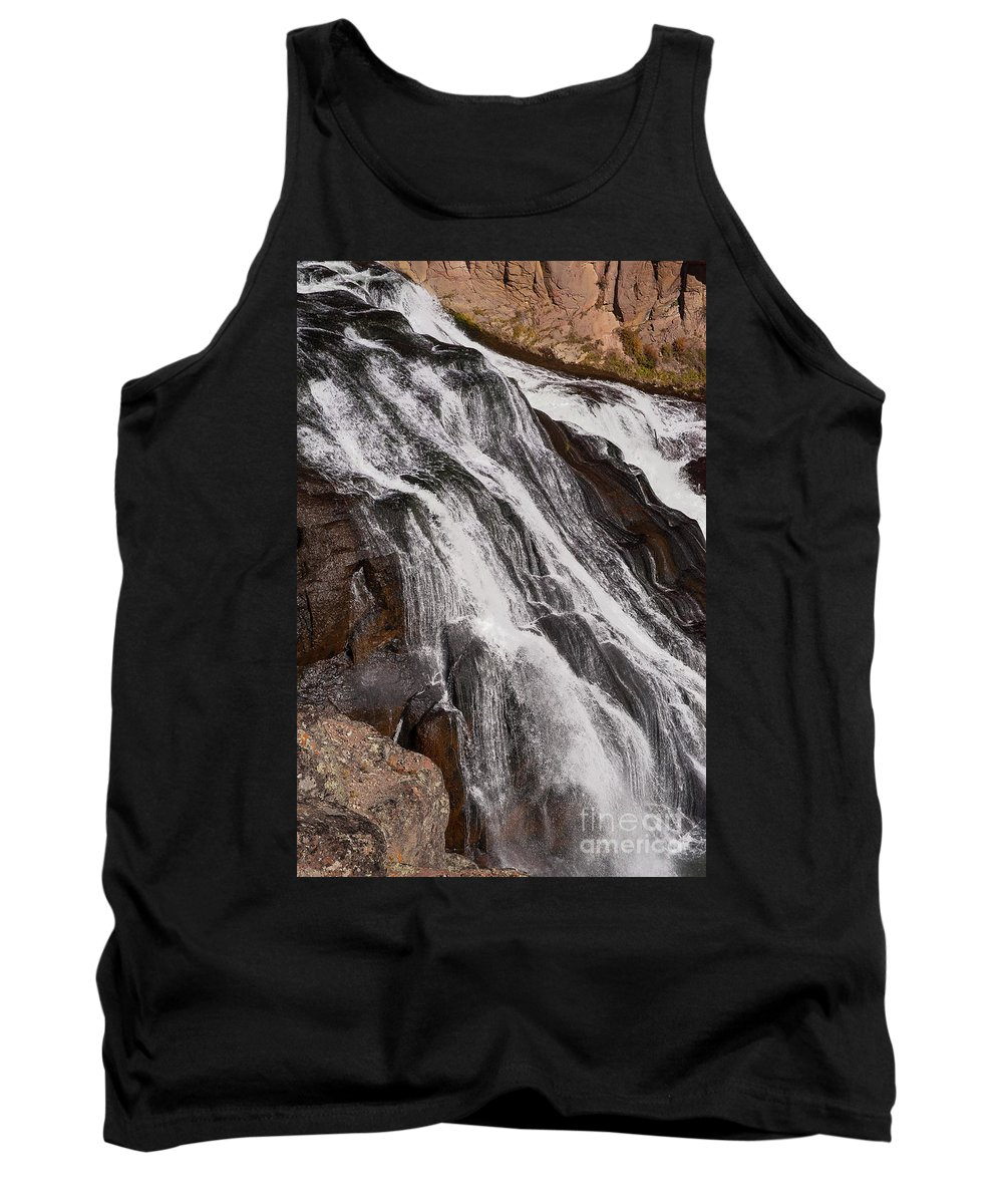 Gibbon Falls Tank Top featuring the photograph Gibbon Falls by Bob Phillips