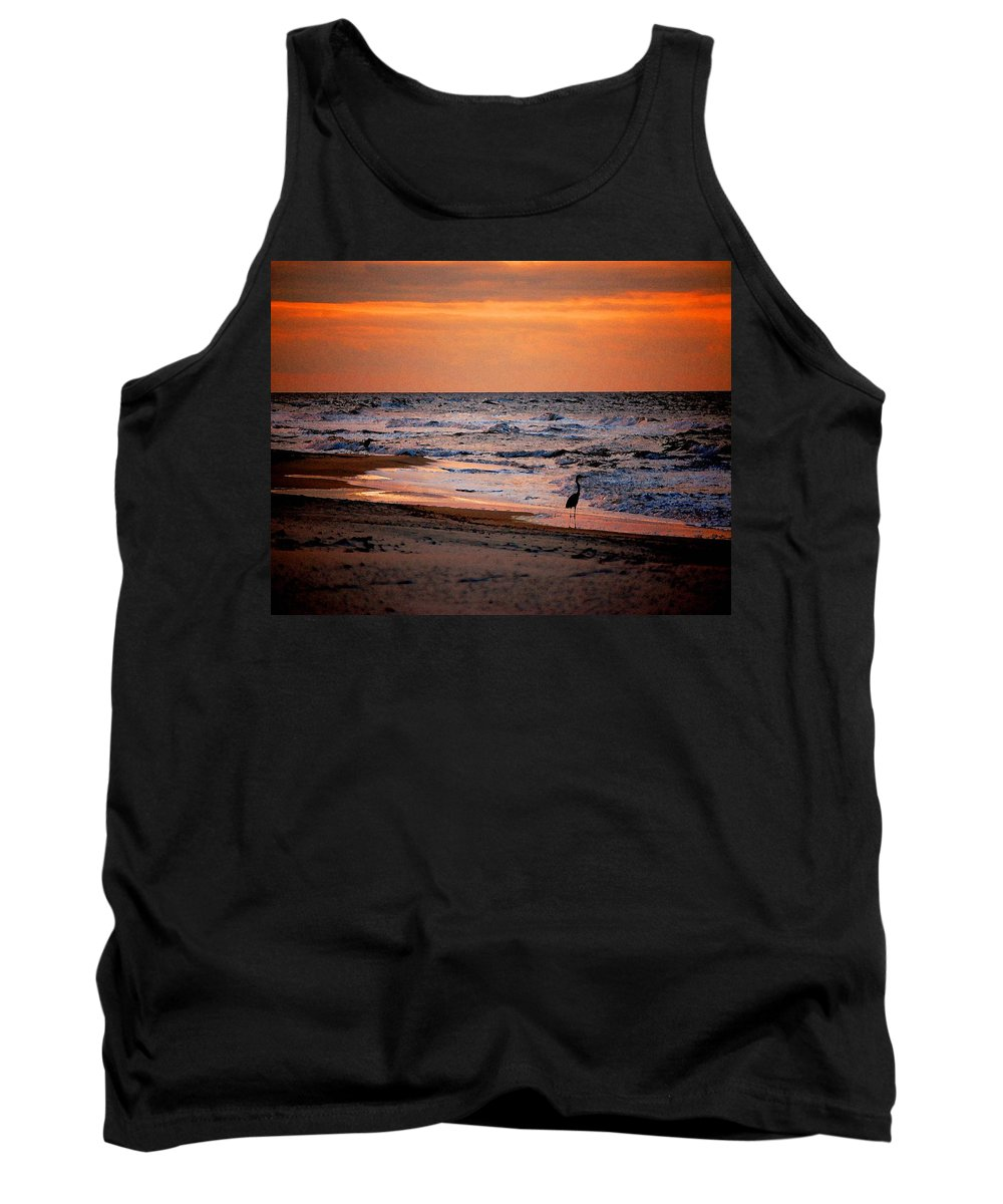 Pelican Tank Top featuring the painting 2 Herons On The Beach by Michael Thomas