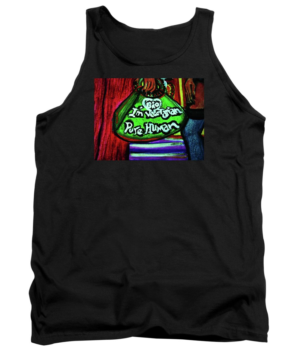 Afternoon By Pablo 1 Tank Top featuring the painting Kunsthaus by Nila Poduschco