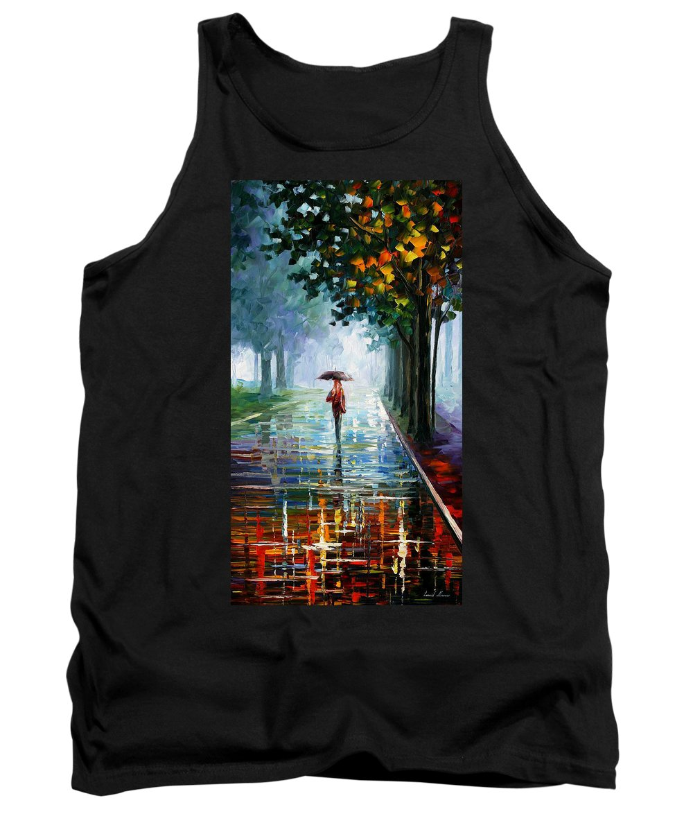 Landscape Tank Top featuring the painting Morning Fog by Leonid Afremov