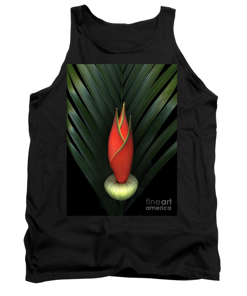 Scanart Tank Top featuring the photograph Palm Of Fire by Christian Slanec
