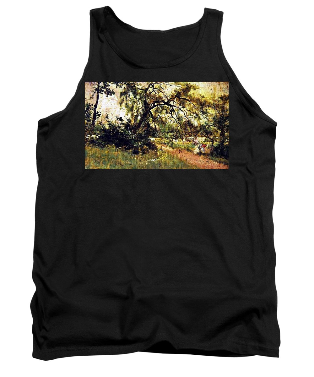 Tree Tank Top featuring the digital art Prince Albert Henry Pierce Bone by Eloisa Mannion