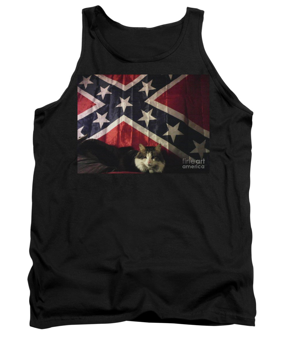 Rebel Tank Top featuring the photograph Rebel Cat by Frederick Holiday