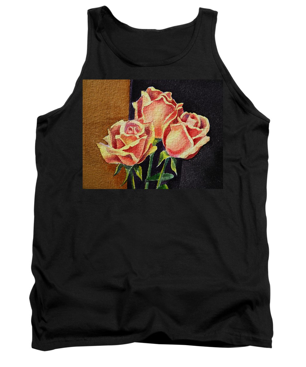 Rose Tank Top featuring the painting Roses  by Irina Sztukowski