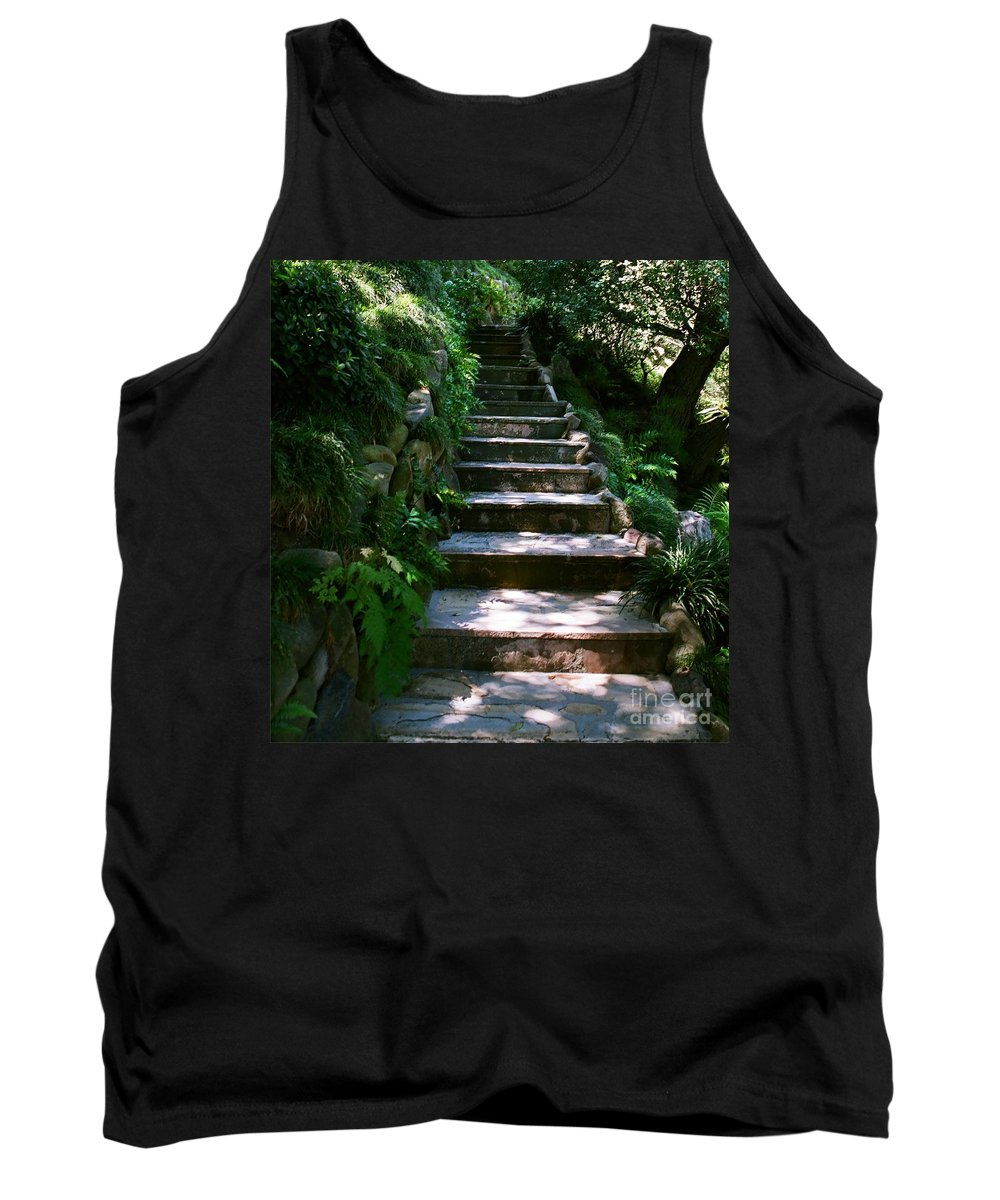 Nature Tank Top featuring the photograph Stone Steps by Dean Triolo
