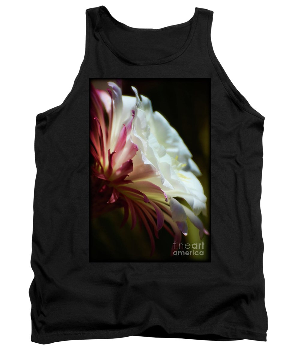 White Echinopsis Cactus Flower Tank Top featuring the photograph The Beauty Within by Saija Lehtonen