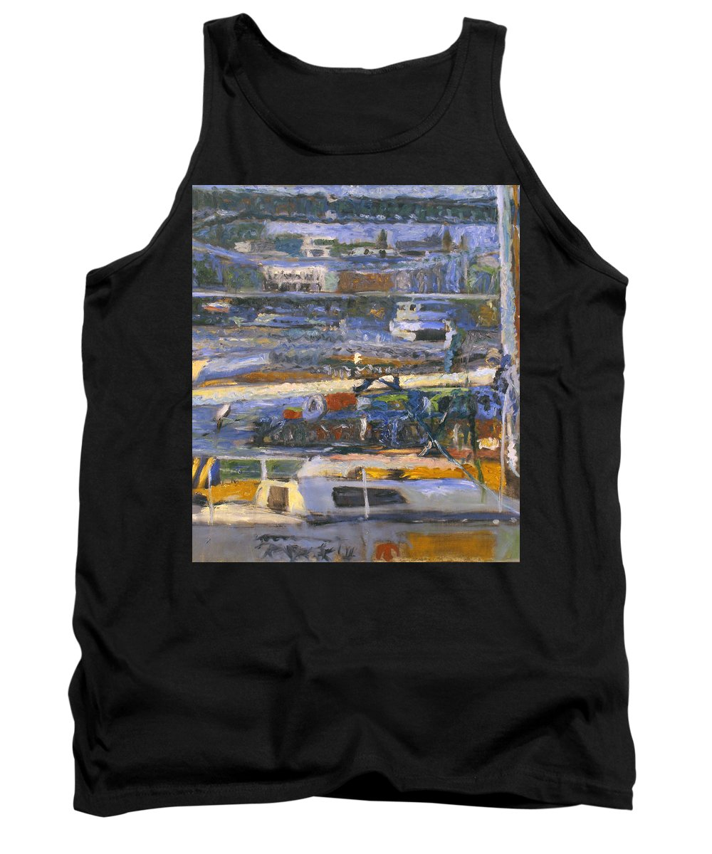 Bay Tank Top featuring the painting Regatta by Robert Nizamov