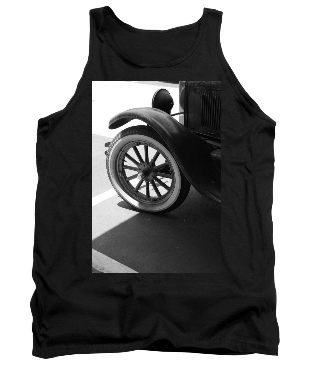 Black And White Tank Top featuring the photograph 1926 Model T Ford by Rob Hans