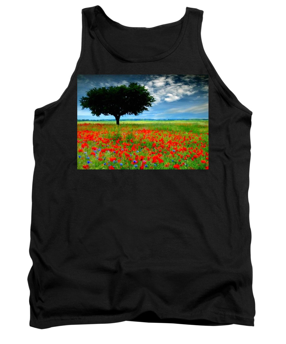 Nature Tank Top featuring the digital art Landscape Illumination by Usa Map