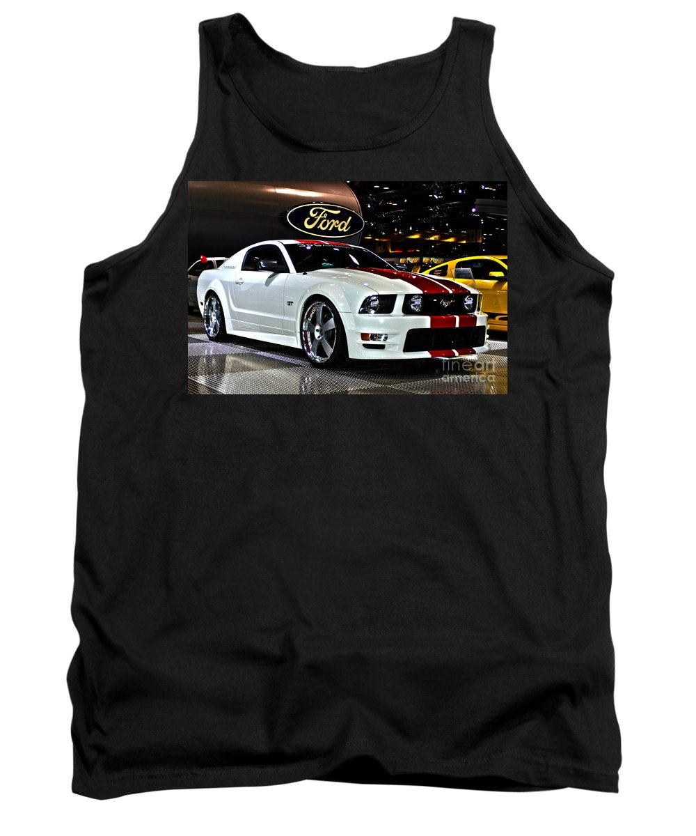 Auto Tank Top featuring the photograph 2006 Ford Mustang No 1 by Alan Look