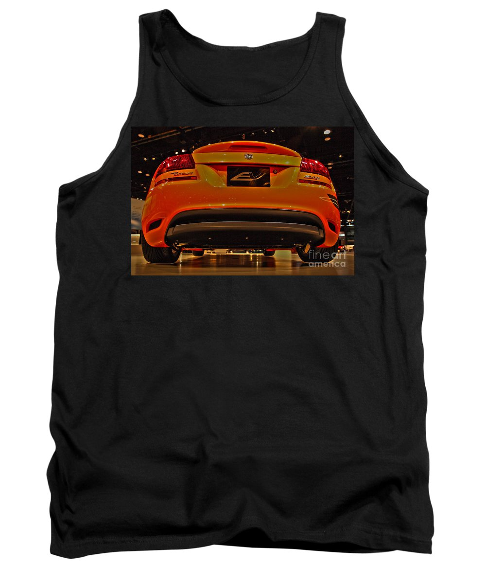 Automotive Tank Top featuring the photograph 2009 Chicago Auto Showdodge Circuit Ev No 2 by Alan Look