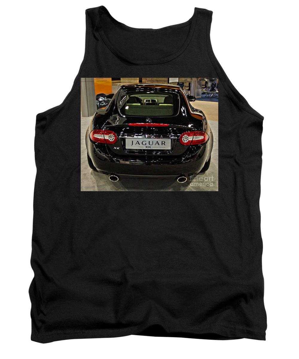 Automotive Tank Top featuring the photograph 2009 Jaguar Xk by Alan Look