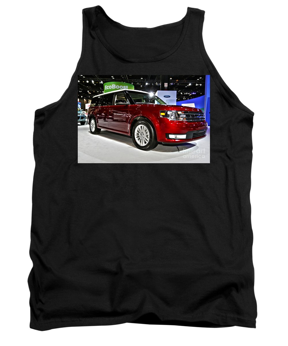 Art Tank Top featuring the photograph 2013 Ford Flex Sel by Alan Look