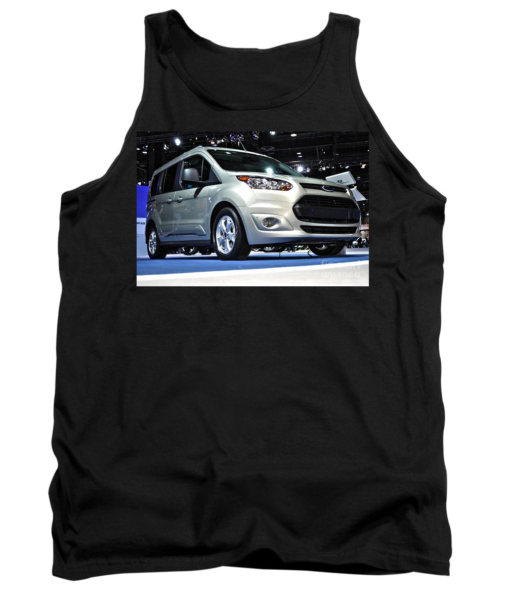 Art Tank Top featuring the photograph 2014 Ford Transit Connect Wagon by Alan Look