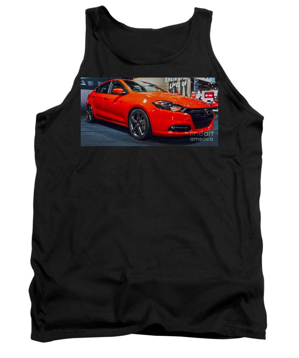 Auto Tank Top featuring the photograph 2015 Dodge Dart by Alan Look