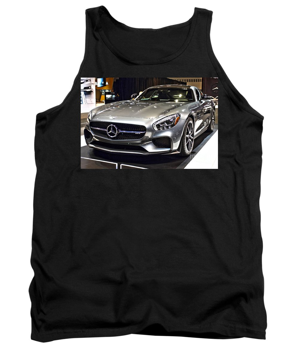 Auto Tank Top featuring the photograph 2016 Mercedes-amg Gts No 1 by Alan Look