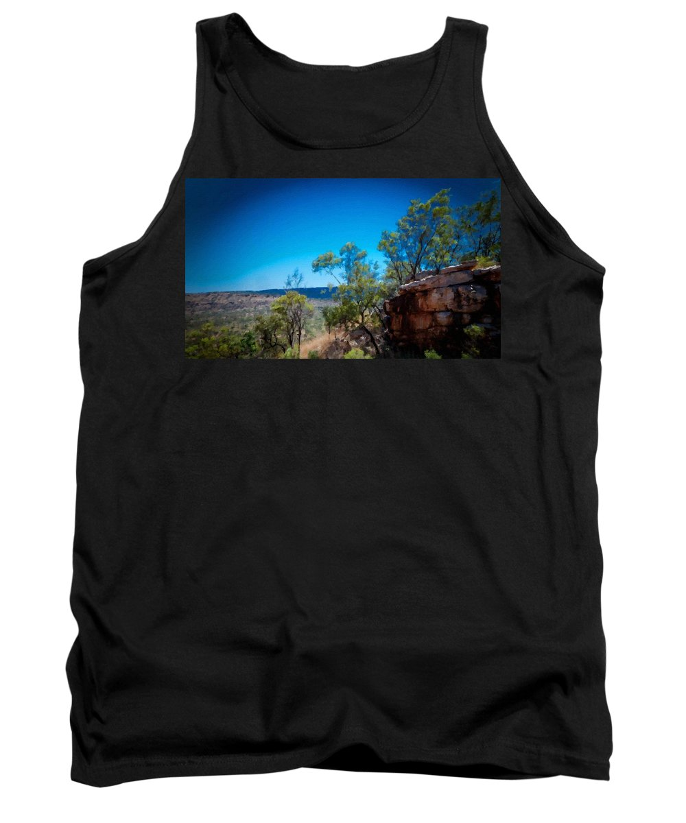 Nc Tank Top featuring the digital art Nature Drawing by Usa Map