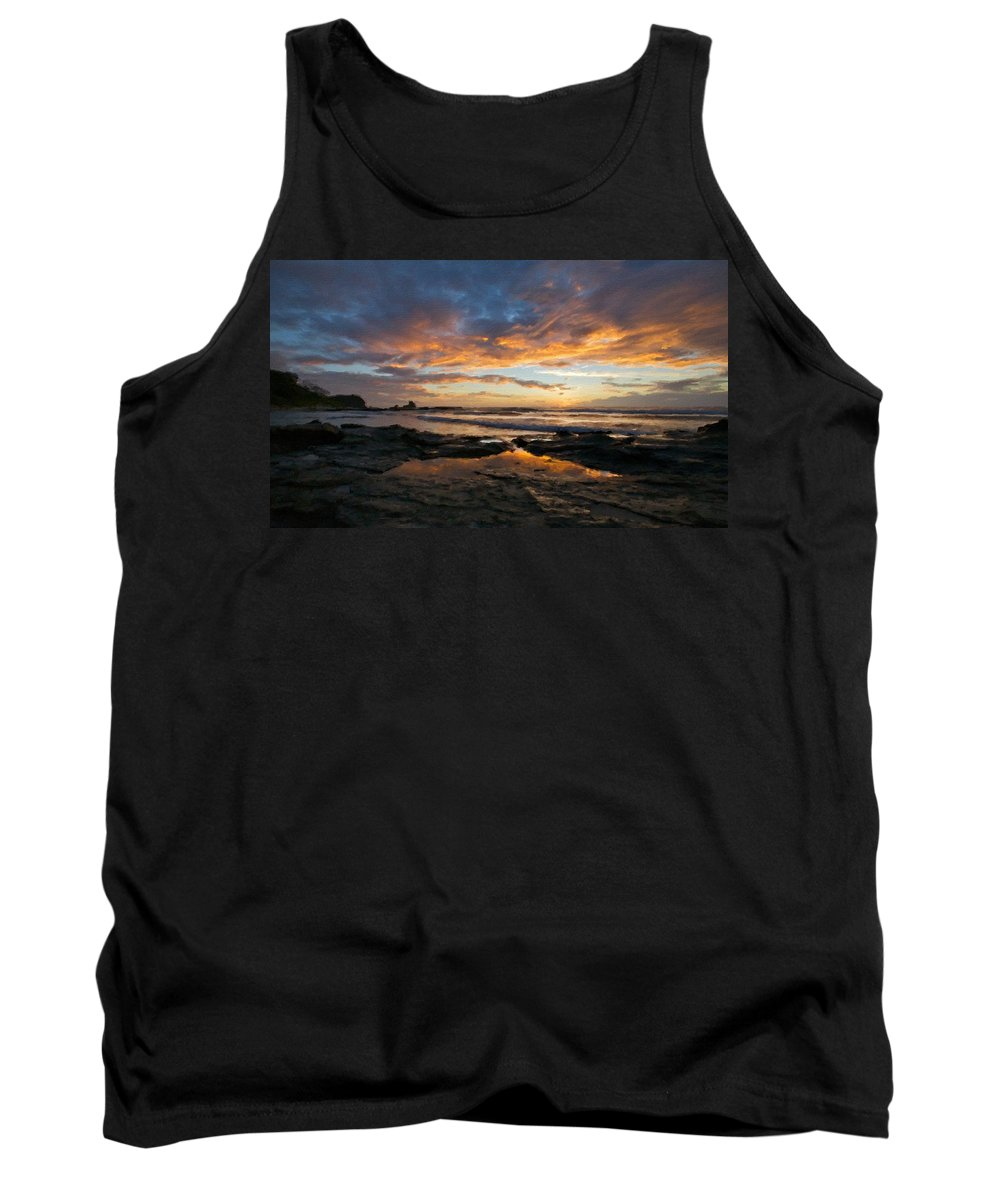 9 Tank Top featuring the digital art V F Landscape by Usa Map
