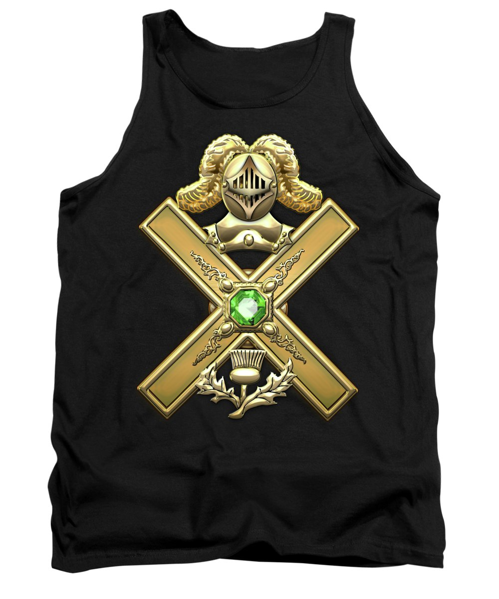'ancient Brotherhoods' Collection By Serge Averbukh Tank Top featuring the digital art 29th Degree Mason - Scottish Knight Of Saint Andrew Masonic Jewel by Serge Averbukh