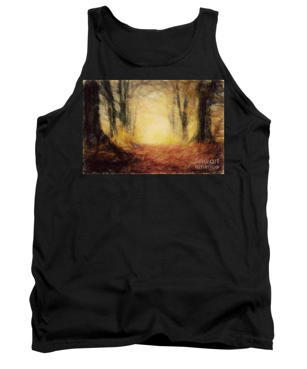 Paint Tank Top featuring the photograph Autumn Forest by Michal Bednarek