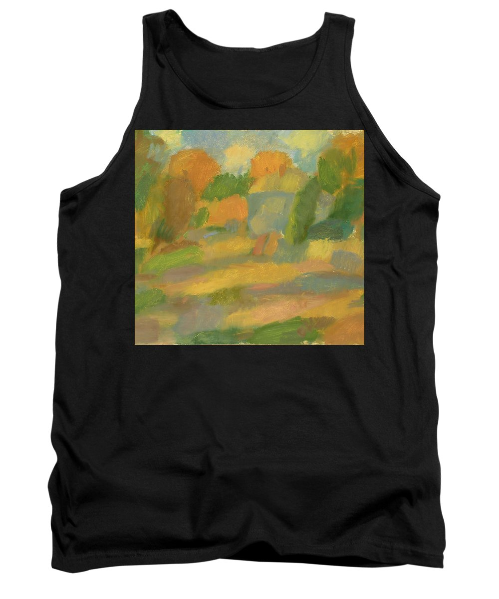 Street Tank Top featuring the painting Autumn by Robert Nizamov