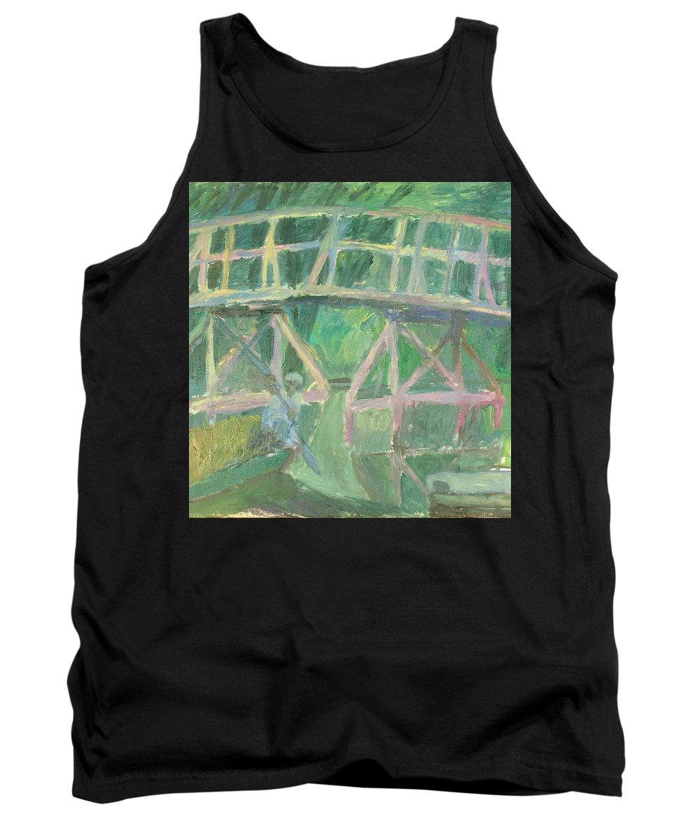 River Tank Top featuring the painting Bridge by Robert Nizamov