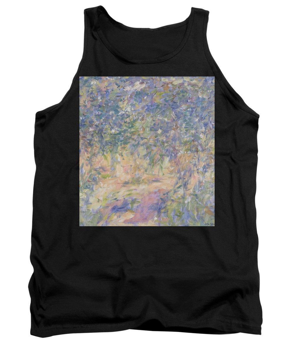 Park Tank Top featuring the painting Garden by Robert Nizamov