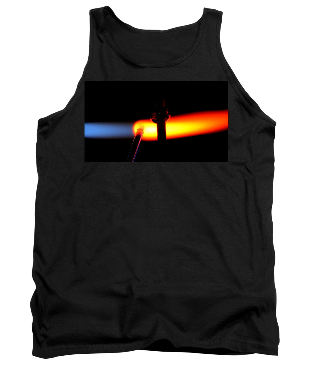 Fire Tank Top featuring the photograph Glass Bead Making by Sarah Houser