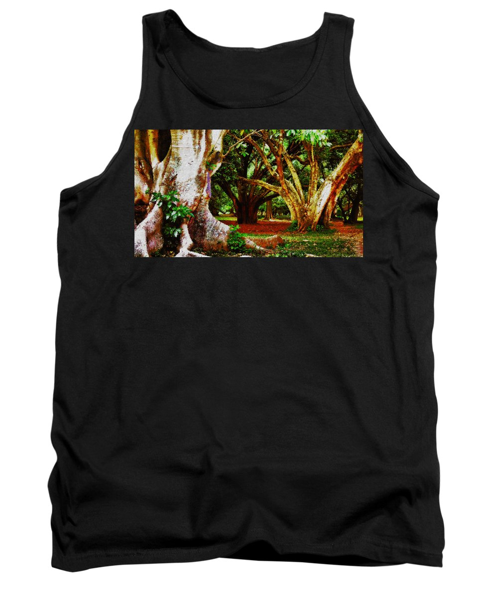 Trees Tank Top featuring the photograph Old Freinds by Galeria Trompiz
