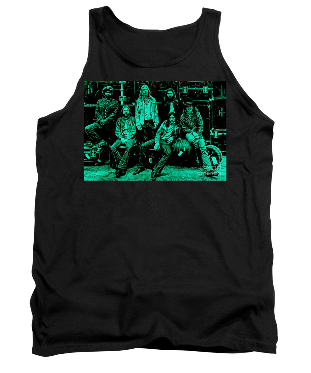 The Allman Brothers Tank Top featuring the mixed media The Allman Brothers Collection by Marvin Blaine