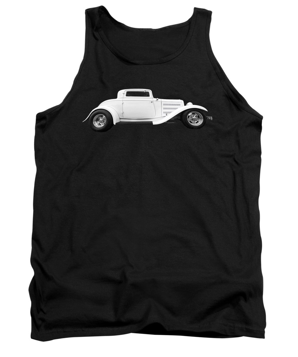 Hotrod Tank Top featuring the photograph 32 Ford Deuce Coupe In Black And White by Gill Billington