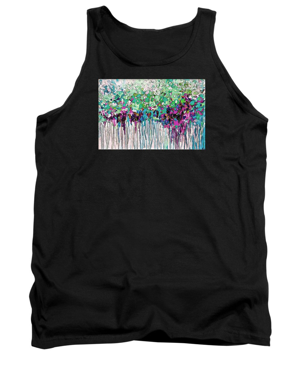 Abstract Tank Top featuring the painting Abstract by Galeria Trompiz