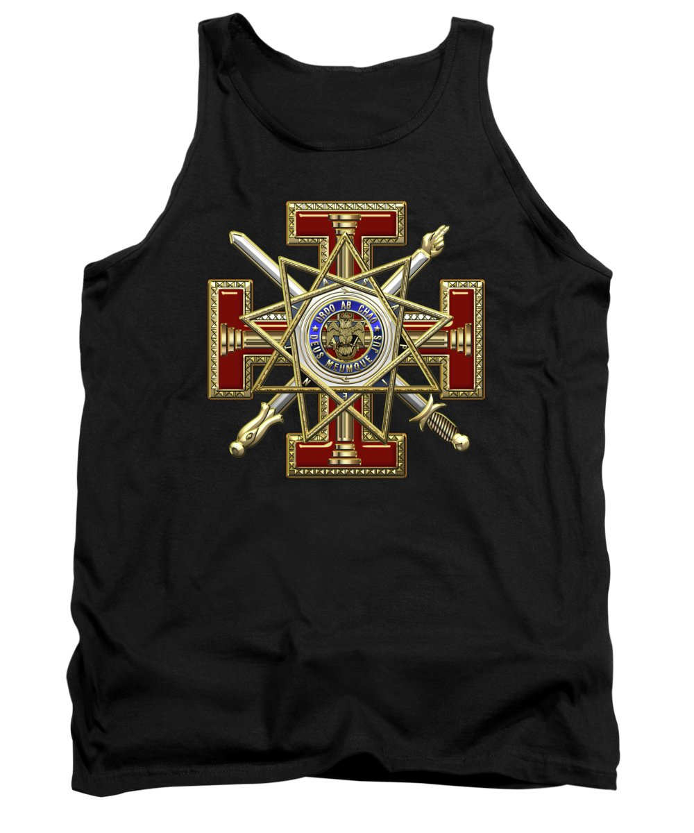 'ancient Brotherhoods' Collection By Serge Averbukh Tank Top featuring the digital art 33rd Degree Mason - Inspector General Masonic Jewel by Serge Averbukh
