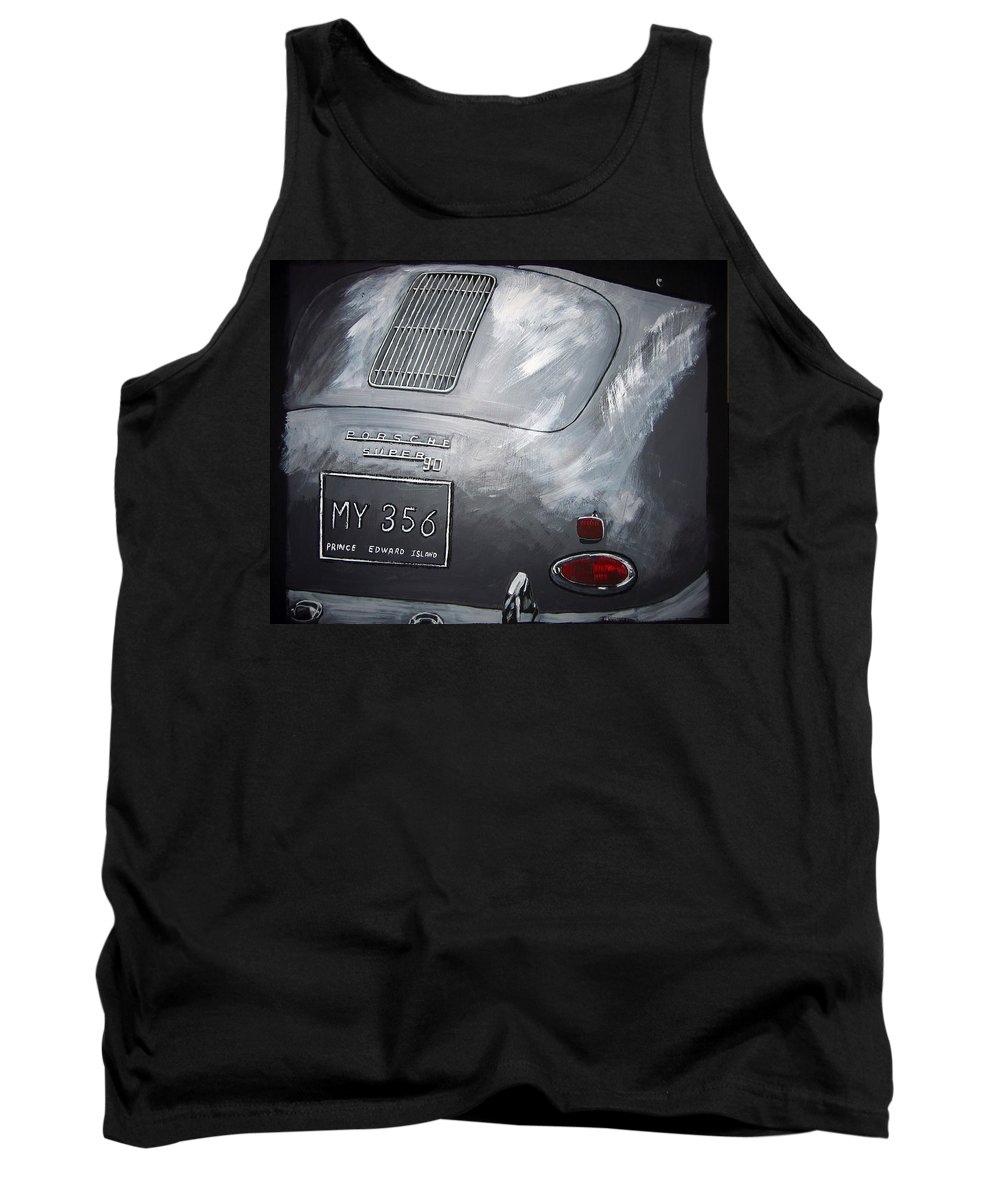Car Tank Top featuring the painting 356 Porsche Rear by Richard Le Page