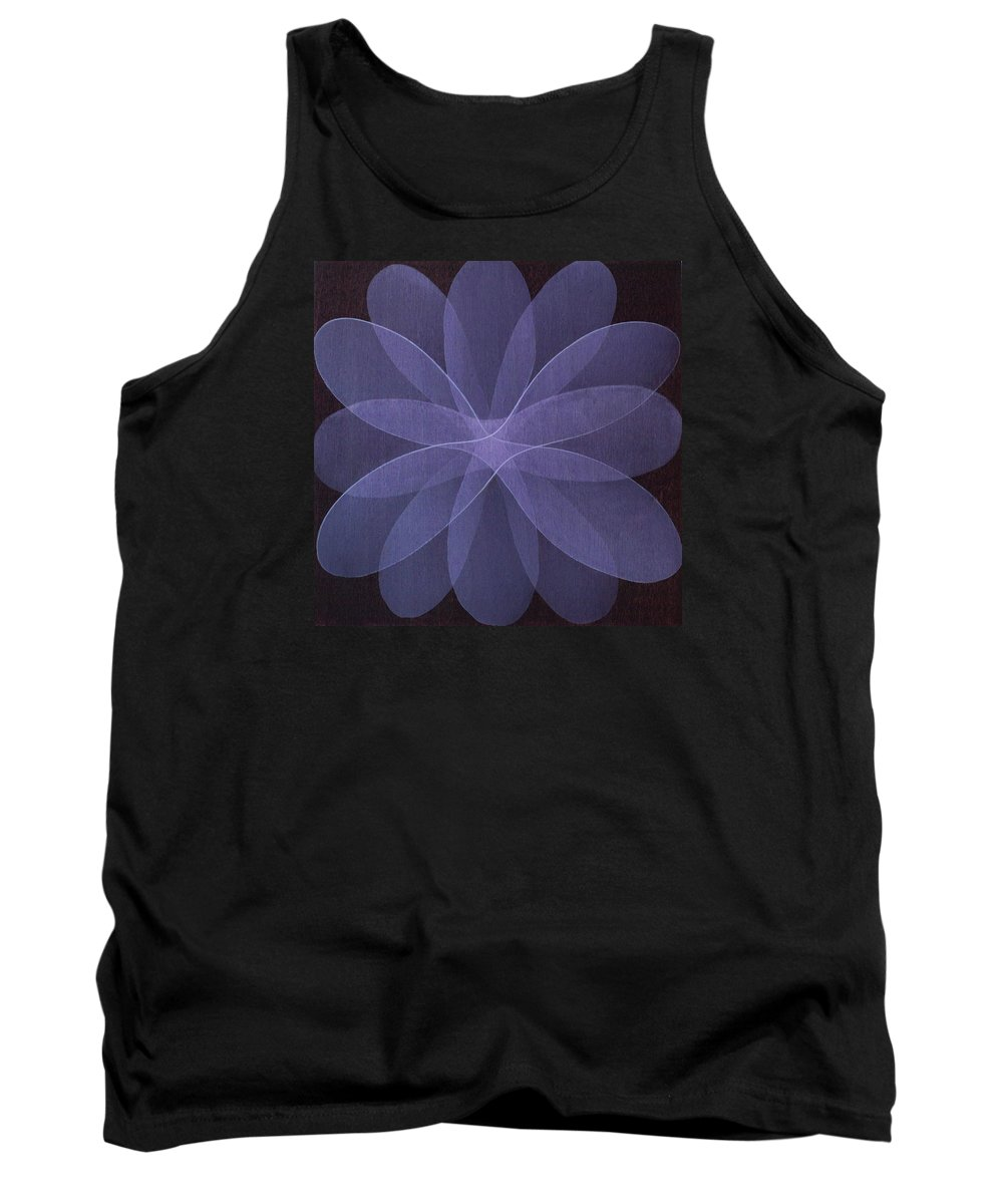 Abstract Tank Top featuring the painting Abstract flower by Jitka Anlaufova