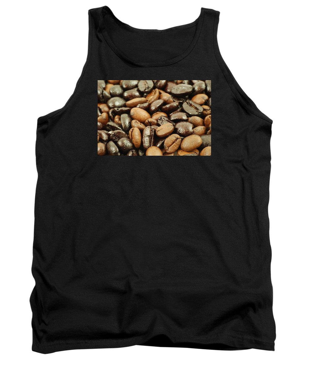Bean Tank Top featuring the photograph Coffee Beans by FL collection
