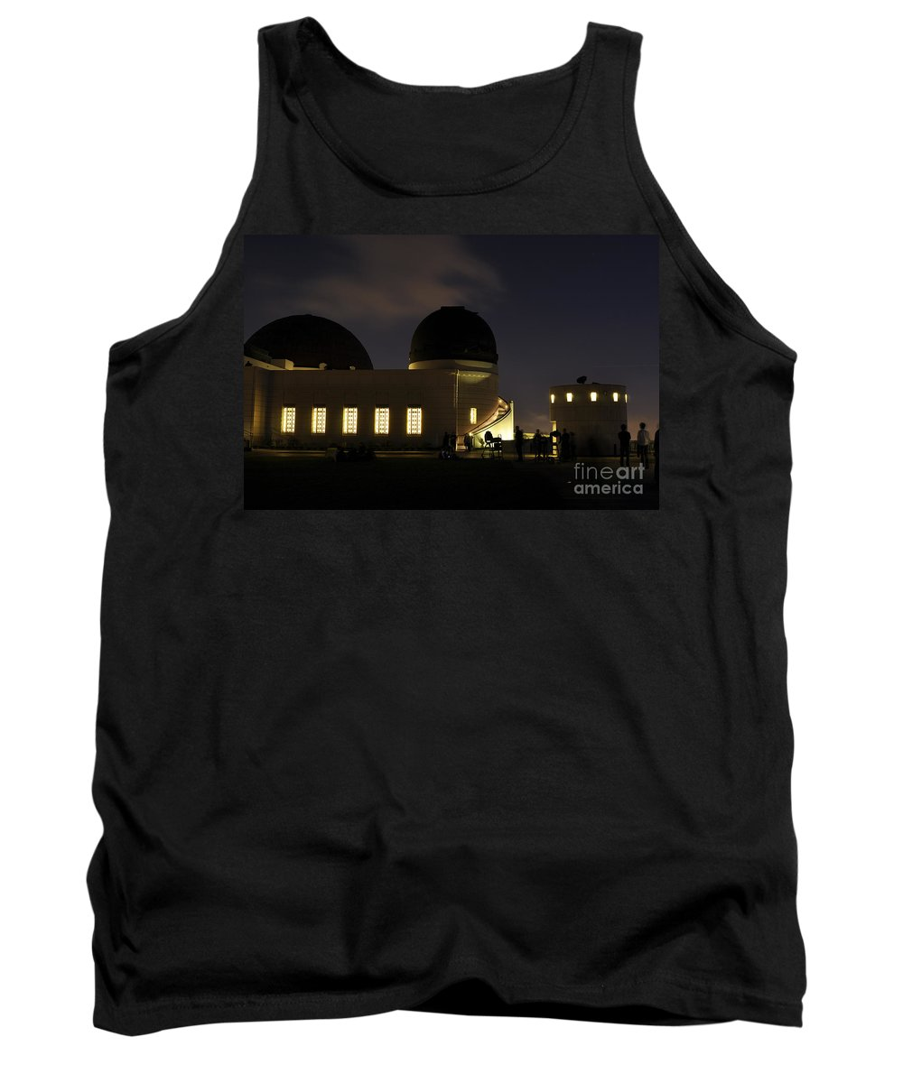 Clay Tank Top featuring the photograph Night At Griffeth Observatory by Clayton Bruster