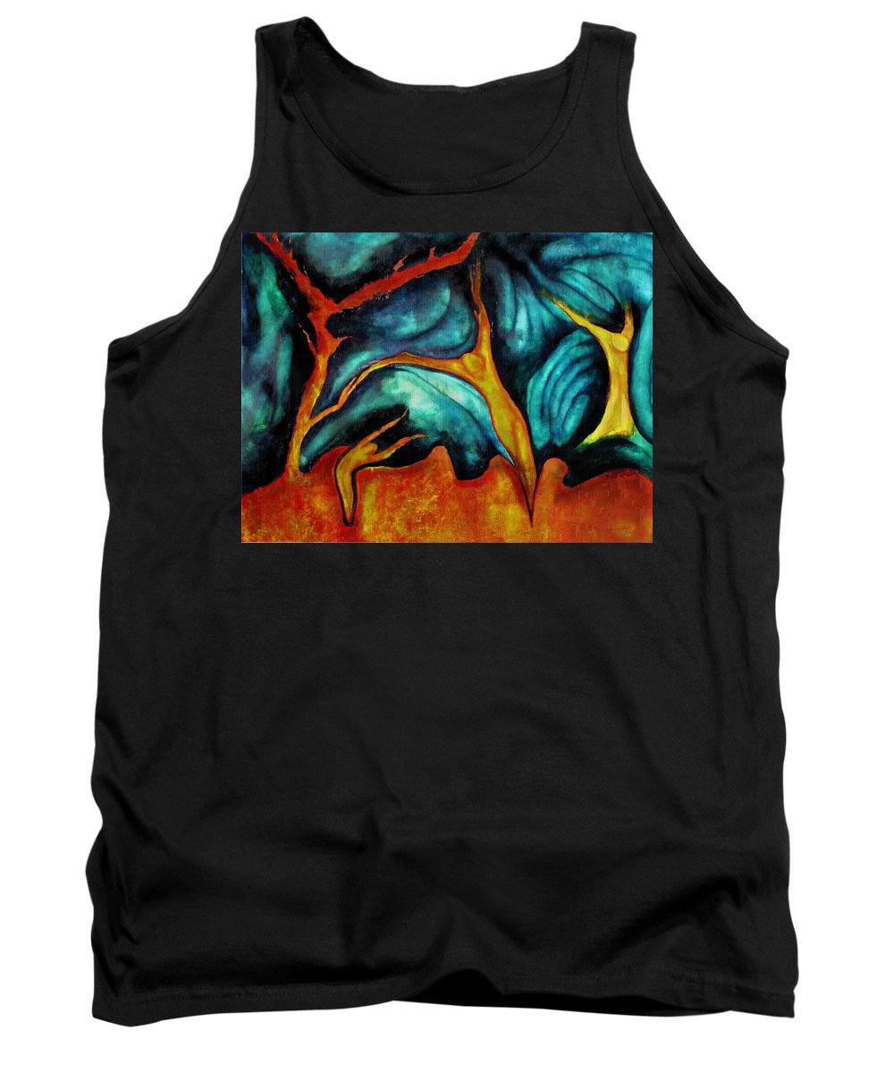 Soul Expression Words Thoughts Mind Connection Tank Top featuring the painting Untitled by Veronica Jackson