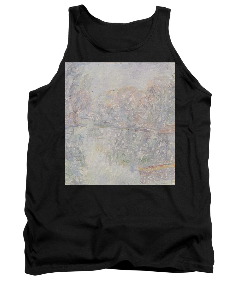 Bay Tank Top featuring the painting River by Robert Nizamov