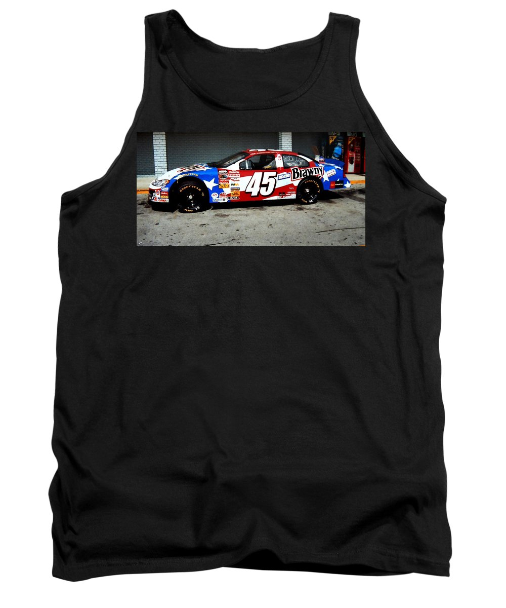 Race Car's Tank Top featuring the photograph #45 by Kathy R Thomas