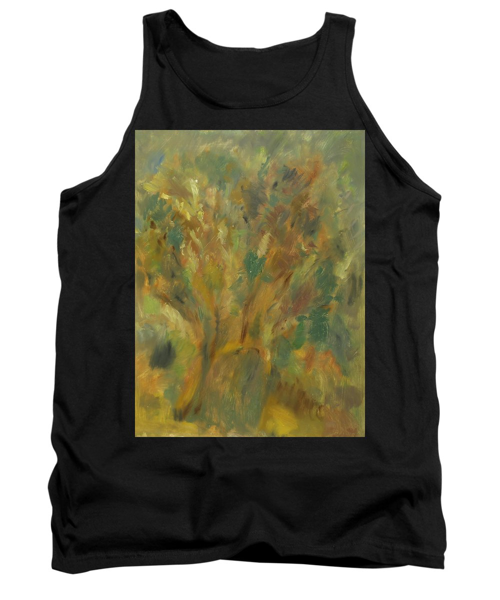 Sunlight Tank Top featuring the painting Tree by Robert Nizamov