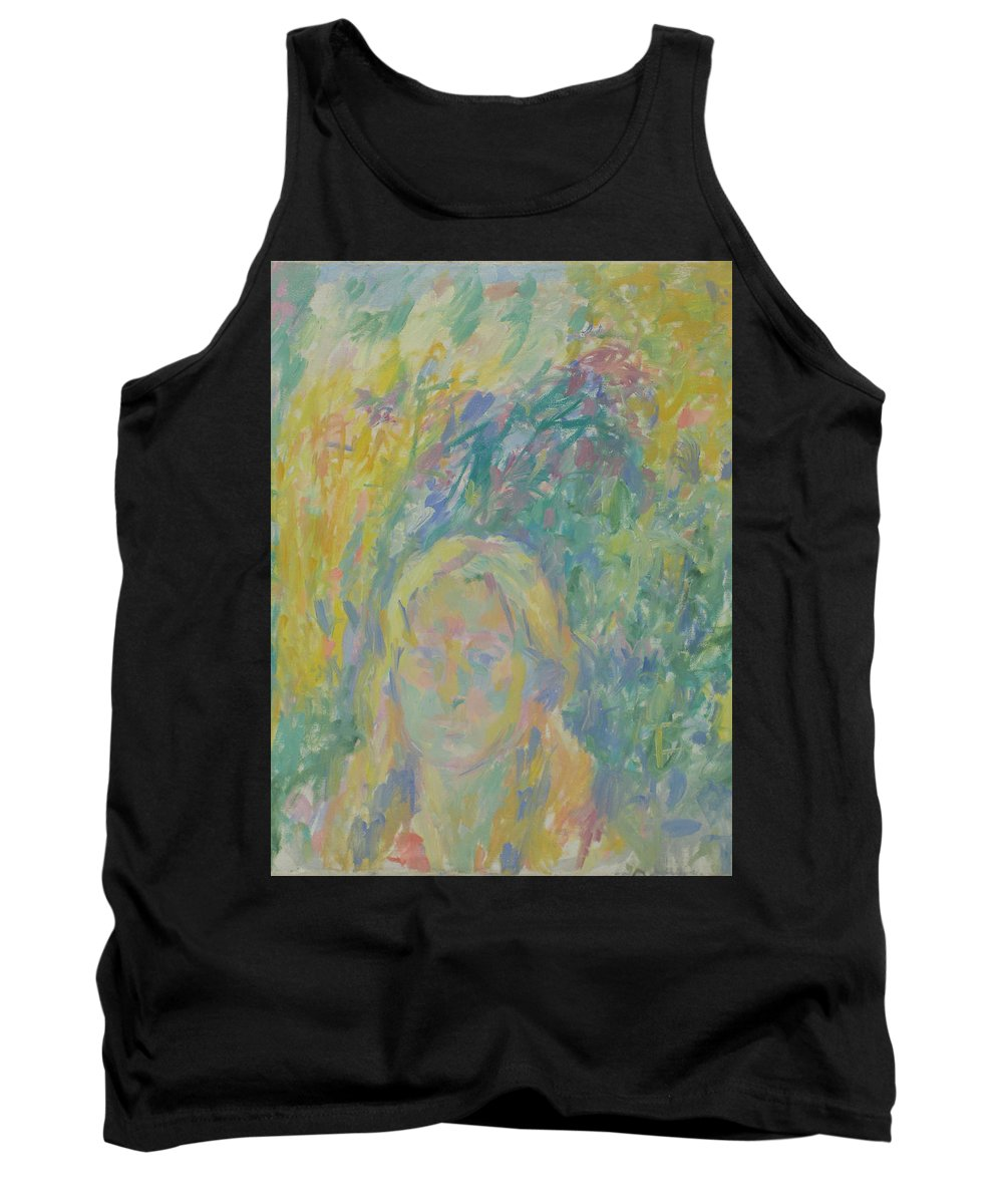 Park Tank Top featuring the painting Portrait by Robert Nizamov
