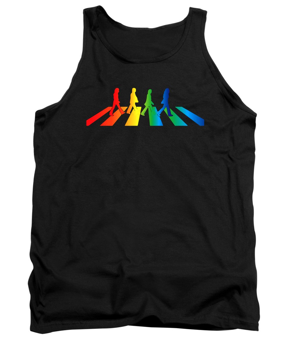 The Beatles Tank Top featuring the digital art The Beatles by Jofi Trazia