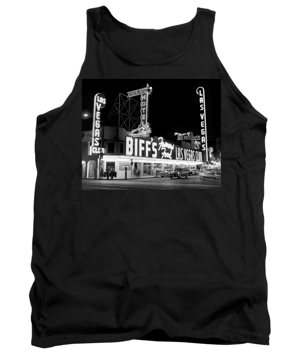 1950s Tank Top featuring the photograph The Las Vegas Strip by Underwood Archives