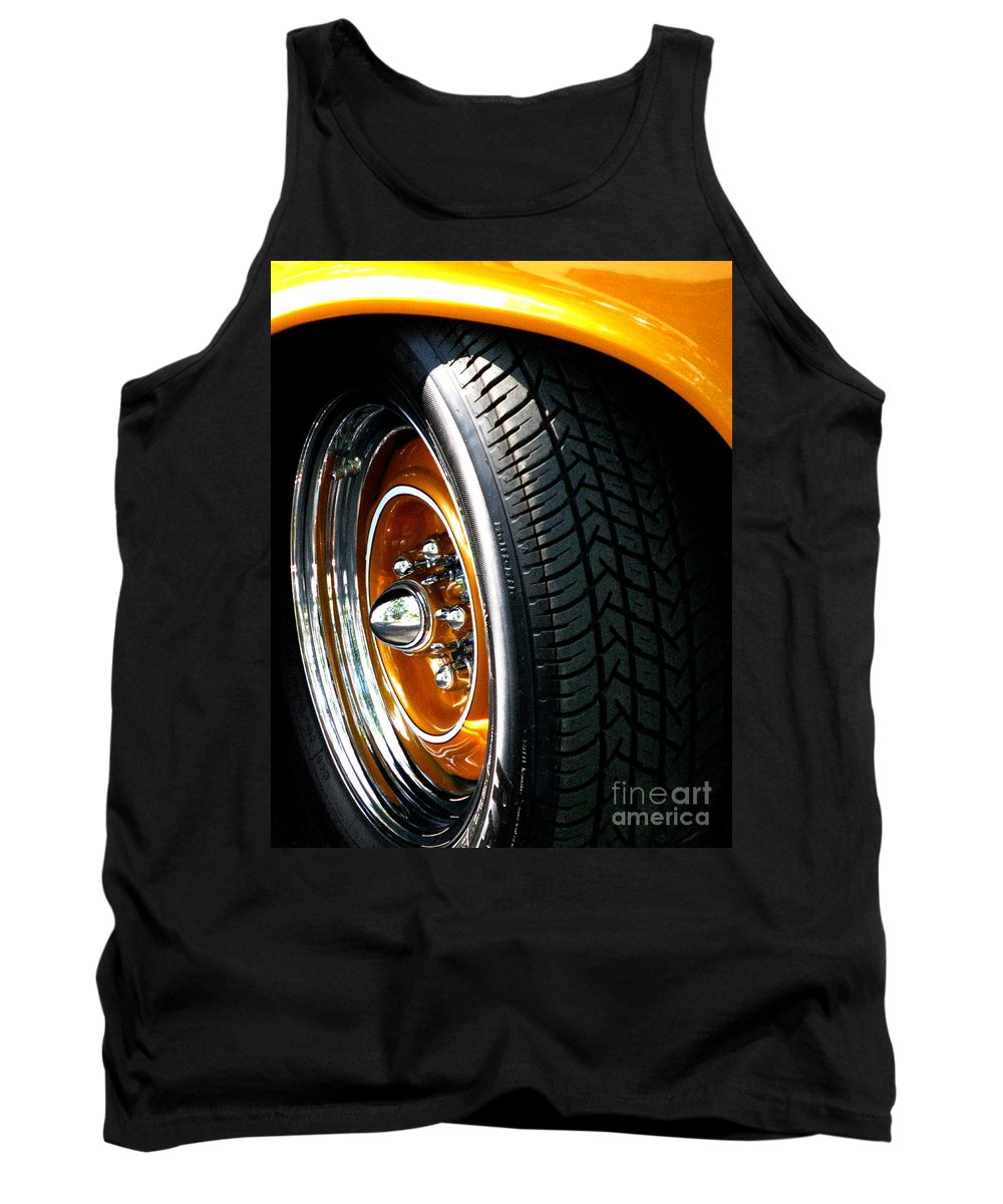 1957 Chevrolet Tank Top featuring the photograph 57 Chevy Golden Glow by Peter Piatt