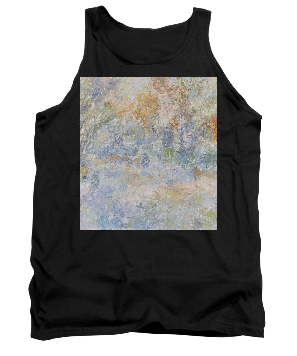 Landscape Tank Top featuring the painting Winter by Robert Nizamov