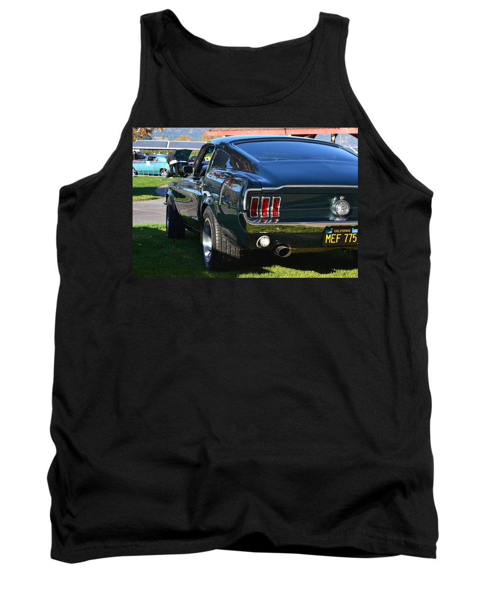 Tank Top featuring the photograph 67 Mustang Fastback by Dean Ferreira