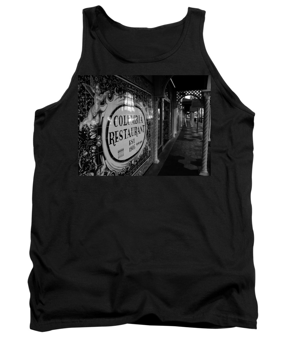Columbia Restaurant Ybor City Florida Tank Top featuring the photograph 7th Ave Ybor City by David Lee Thompson