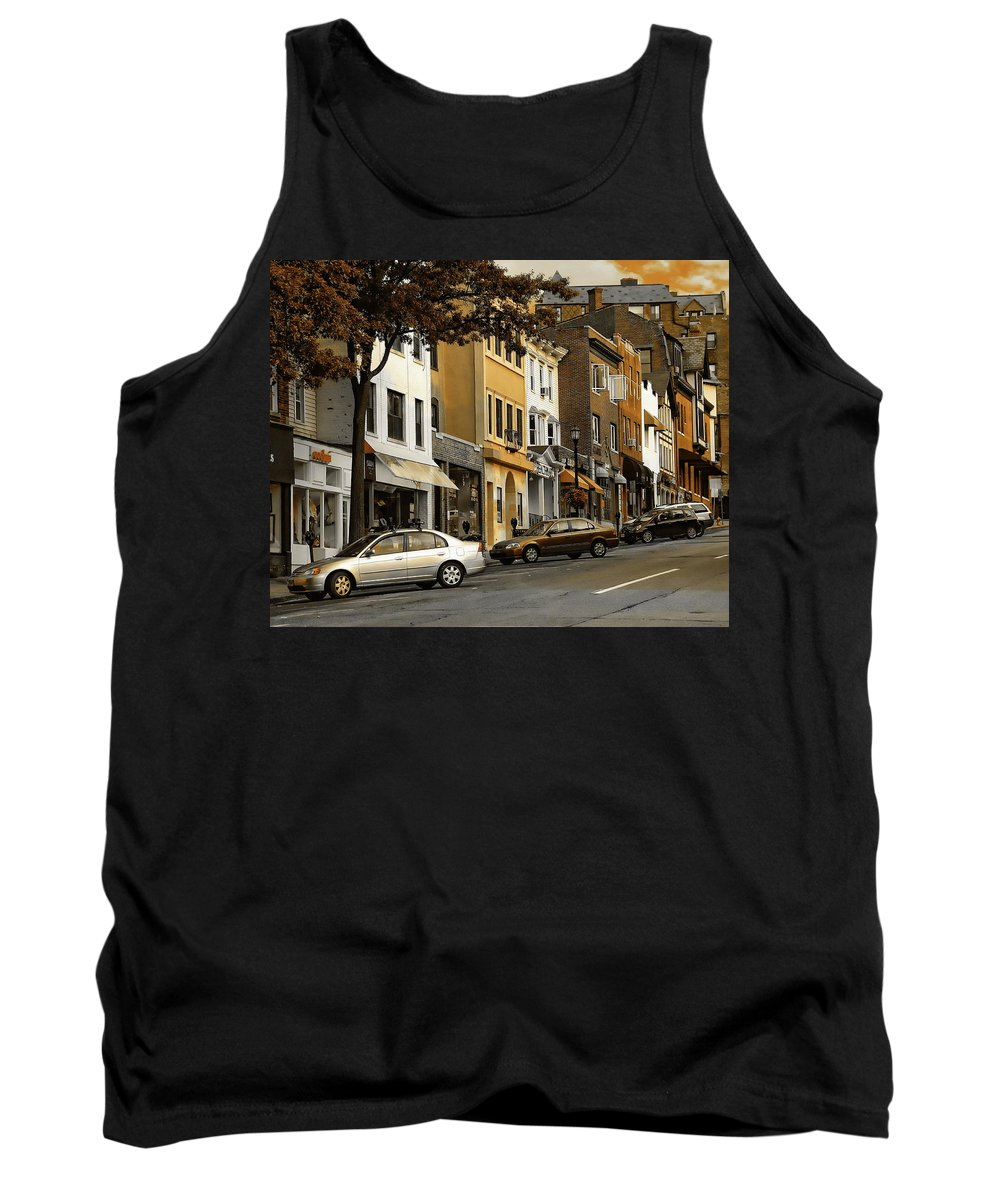Ct Tank Top featuring the photograph Greenwich Avenue by Anthony Dezenzio